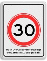 30 KM verkeersbord